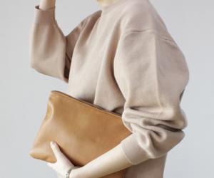 beige, oversized, and style image