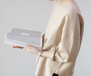 beige, oversized, and sweater image