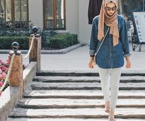 jeans, hijab fashion, and müslimah image