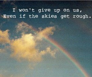Lyrics, rainbow, and song image