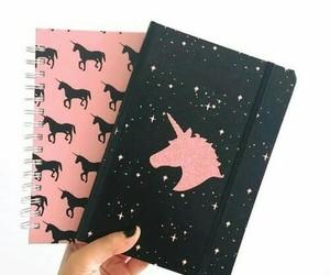 unicorn, pink, and black image