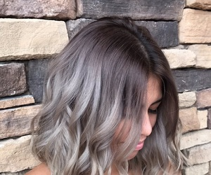 gray hair, silver hair, and ombre hair image