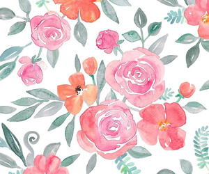 art, floral, and floral pattern image