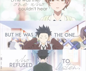 anime, sad, and koe no katachi image