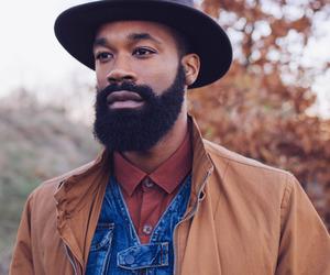 beard, melanin, and man image