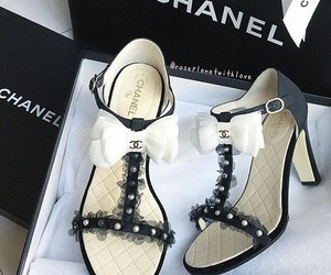 chanel, chanel shoes, and high heels image