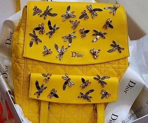 yellow, dior, and bag image