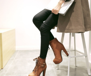 ankle boots, girl, and shoes image