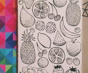 apple, art, and banana image
