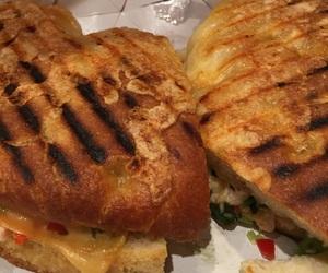 sandwich, panera bread, and panini image