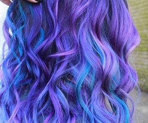 colorful, curly, and hair image