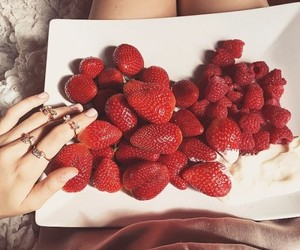 food, strawberry, and luxury image