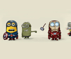minions, Avengers, and iron man image