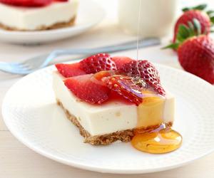 strawberry, cake, and cheesecake image