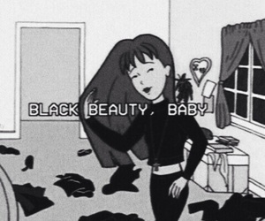 black, grunge, and Daria image