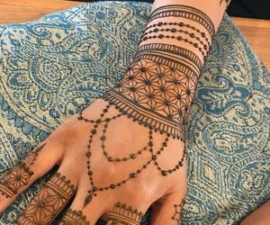 beauty, henna, and patterns image