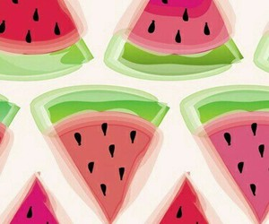green, phone, and watermelon image
