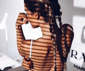 braids, hair, and girl image
