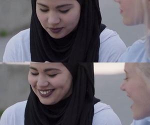 hijab, muslim, and skam image