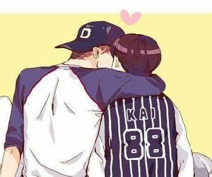 kaisoo, exo, and kai image