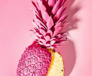 pink, pineapple, and wallpaper image