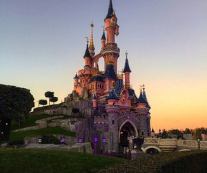 disneyland and castle image
