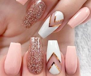 glitter, nails, and nail shape image