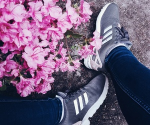 adidas, flowers, and tumblr image
