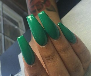 nails and olive green image