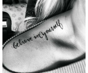 believe, yourself, and ink image