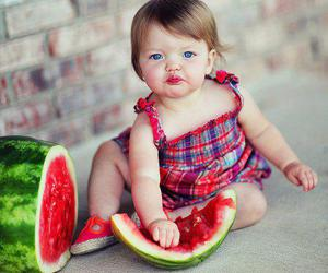 baby, red, and watermelon image