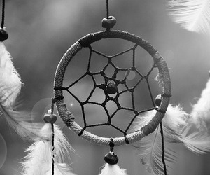 Dream, feather, and dream catcher image