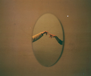 mirror, hands, and vintage image