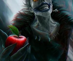 apple, death note, and ryuk image