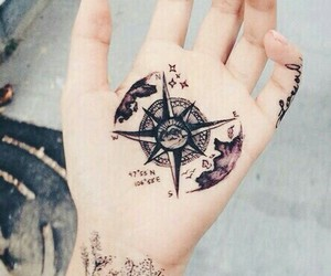 tattoo, grunge, and hand image