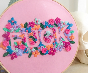 diy, flowers, and embroidery image