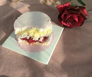rose, cake, and pink image