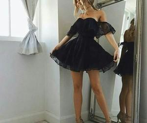 dress, girl, and اسود image