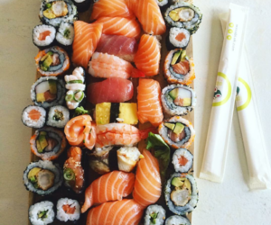 food, love, and sushi image