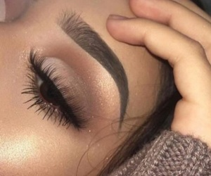 eyebrow, goals, and look image