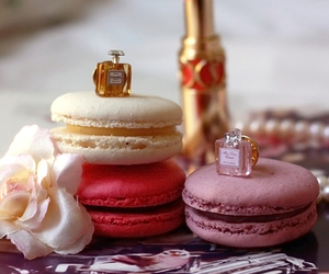 macarons, food, and perfume image
