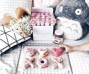 food, spring, and donuts image