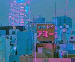 city, pink, and tumblr image