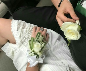 beautiful, corsage, and girl image