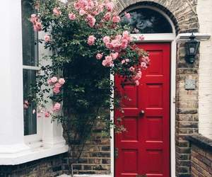 door, home, and red image