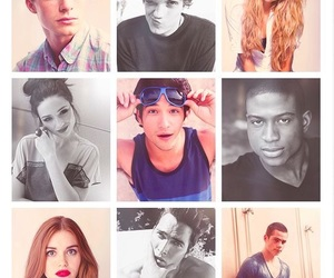 colton haynes, crystal reed, and dylan o'brien image
