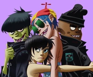 background, band, and gorillaz image