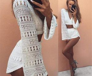 beach, rompers, and jumpsuits image