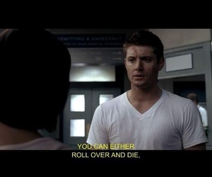 background, dean winchester, and keep fighting image
