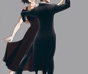 dancing, anime couples, and shingeki no kyojin image